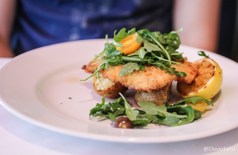 Pollo Milanese - with gold potatoes, arugula, and grilled lemon salad