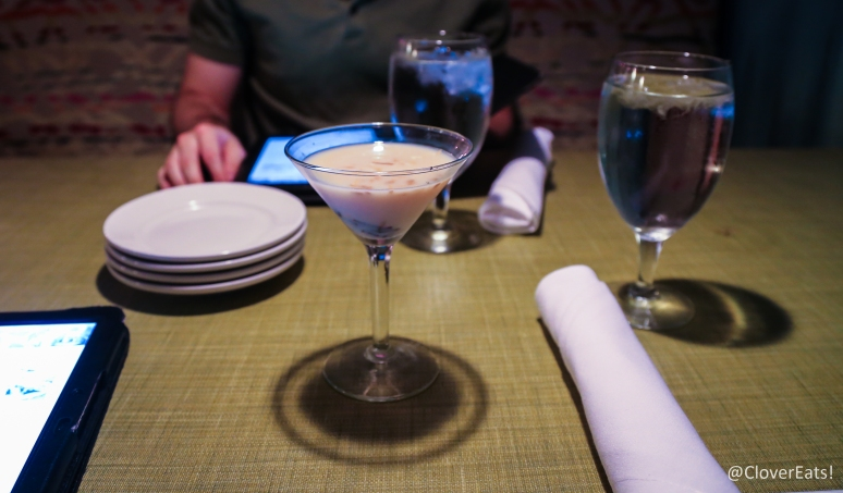 Almond Joy Martini - Malibu coconut rum, Disarrono, Godiva white chocolate liquer, coconut shavings