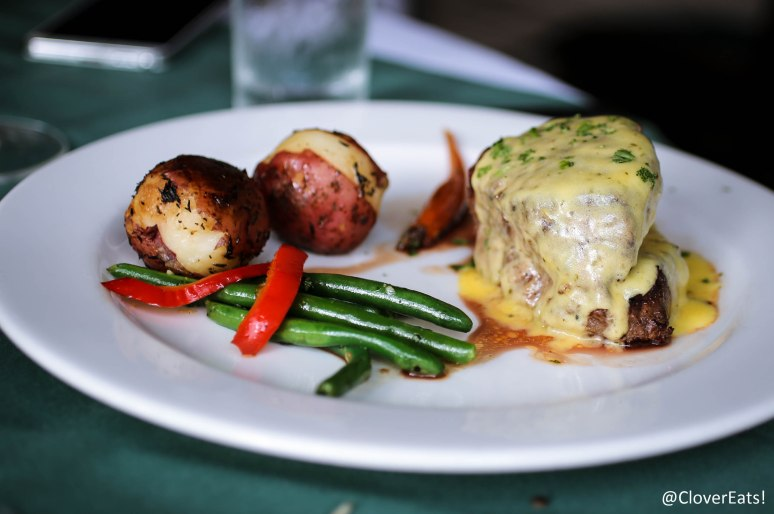 FILET BEARNAISE  - AN 8 OZ. FILET MIGNON STUFFED WITH LOBSTER MEAT, GRILLED AND SERVED WITH OUR BEARNAISE SAUCE