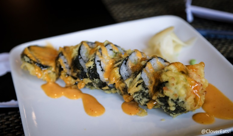 Dynamite Roll - Deep-fried salmon, avocado & crab stick with spicy mayo sauce