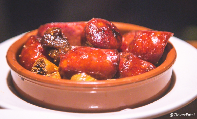 Chorizo, Sweet and Sour Figs, with Balsamic Glaze
