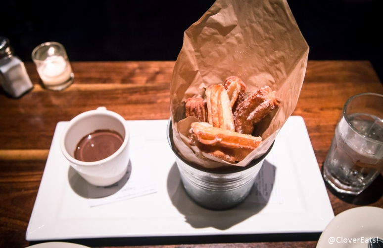 Churros Y Chocolate with Dark Chocolate Dipping Sauce