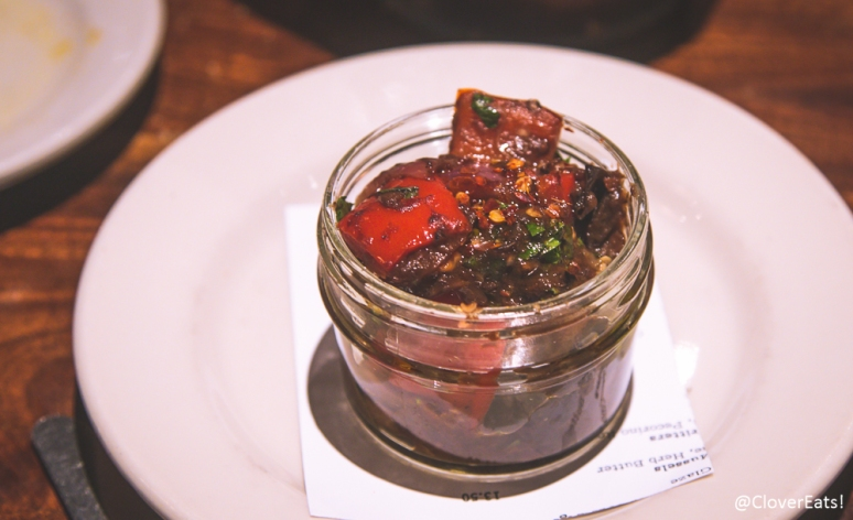 Spicy Eggplant Caponata with Sweet Pepper, Basil, Parsley