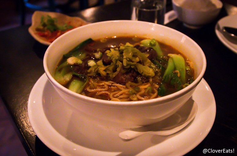 Taiwanese Beef Noodle – braised beef shank, pickled cabbage
