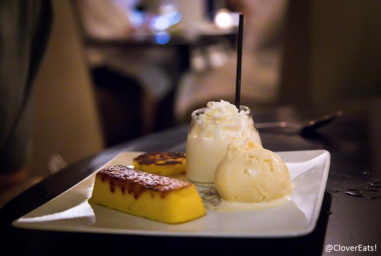 Polenta Brulee Arepa/ Brown Butter Ice Cream/ Corn Milk