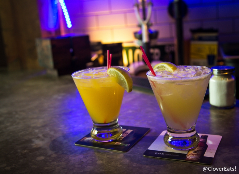 $5 Happy Hour Mango and Passionfruit Margaritas