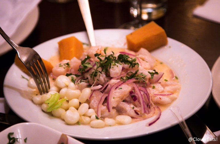 Ceviche de Pescado - spicy fish in spicy lemon sauce