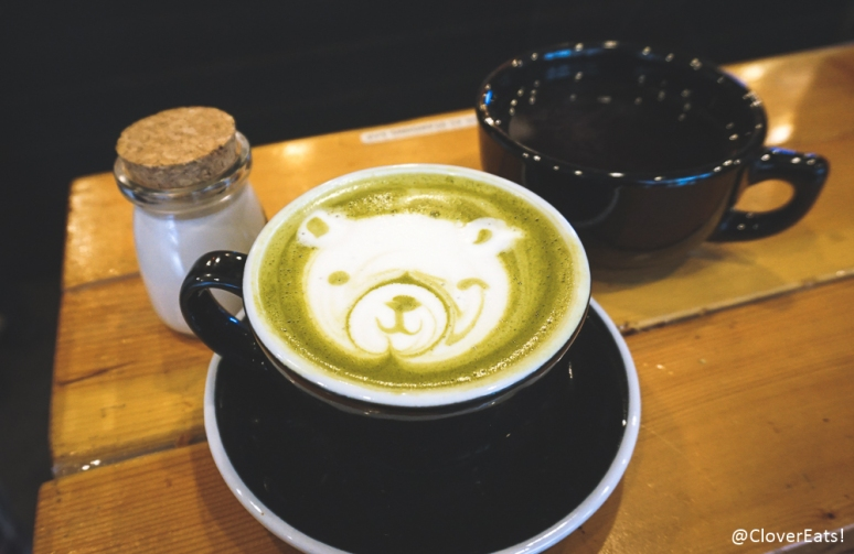 Matcha jasmine latte