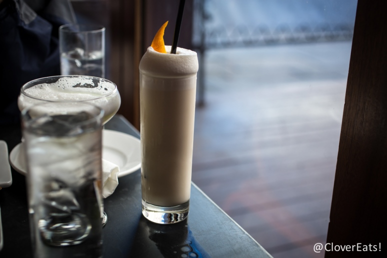Ramos Gin Fizz Ransom old tom gin, orange blossom, lemon, lime, cream, egg white, sparkling wate