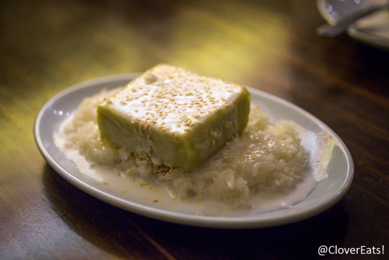 Durian essence coconut sticky rice