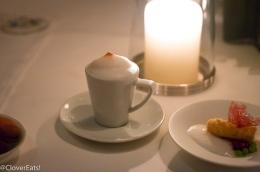 """""""COFFEE AND DOUGHNUT S """" Cinnamon-Sugared Brioche Doughnuts with Cappuccino Semifreddo*"""